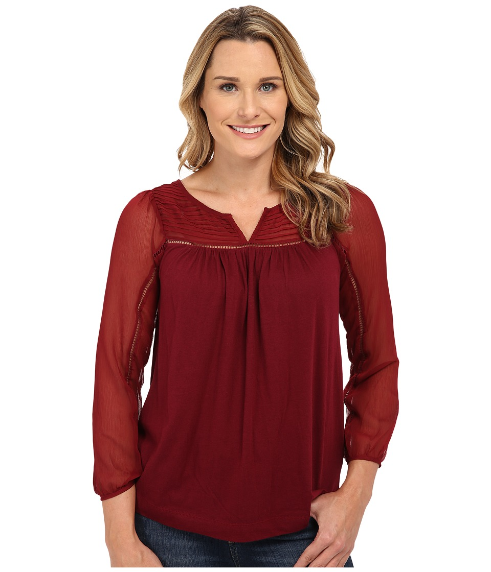 Lucky Brand - Chiffon Mixed Top (Mix Berry) Women's Blouse