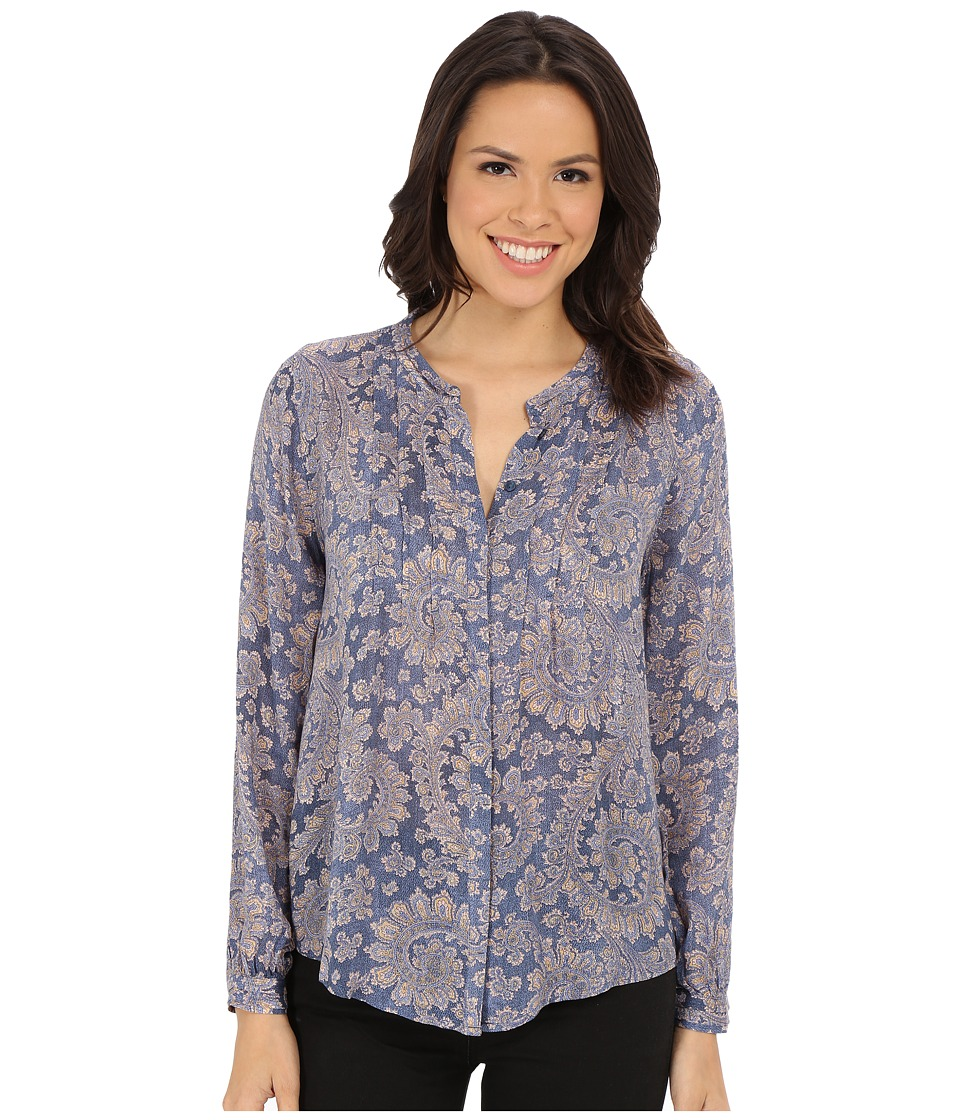 Lucky Brand - Textured Paisley Top (Blue Multi) Women's Blouse