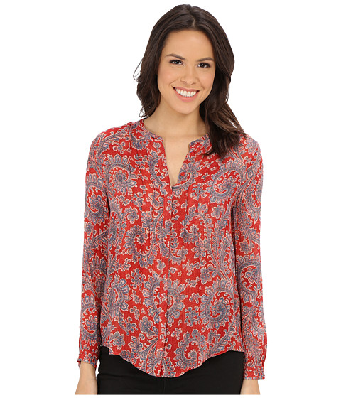 Lucky Brand - Textured Paisley Top (Red Multi) Women's Blouse