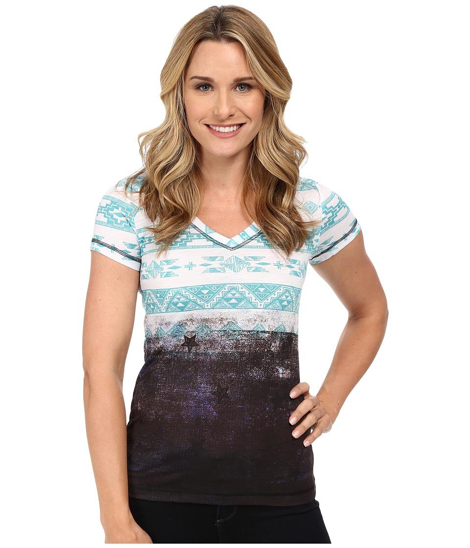Cruel - Sublime Poly-Rayon Slub Jersey (Teal) Women's T Shirt
