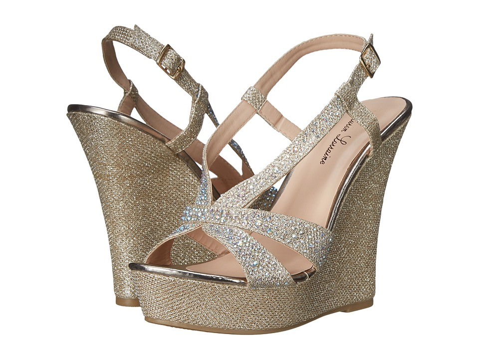 Lauren Lorraine - Nika (Nude) Women's Wedge Shoes