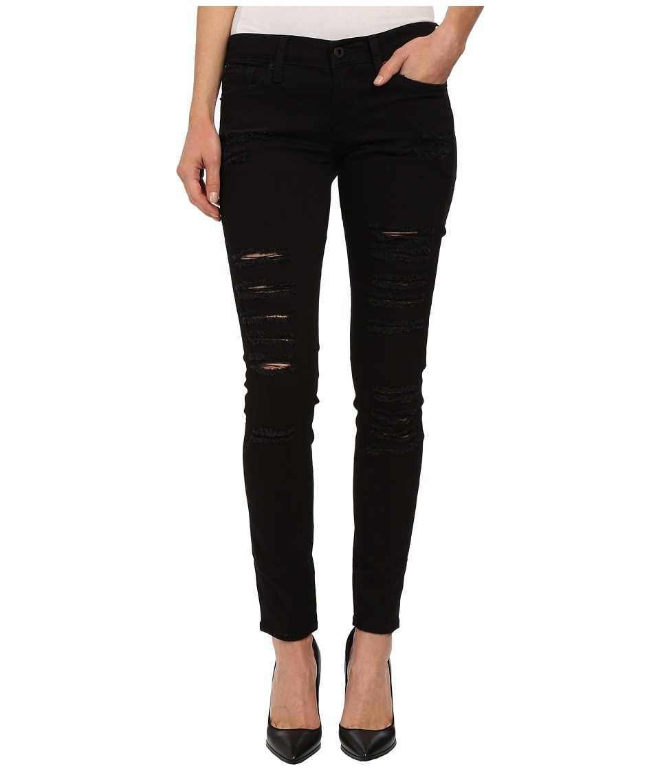 Lucky Brand - Charlie Skinny in Black Destructed (Black Destructed) Women's Jeans