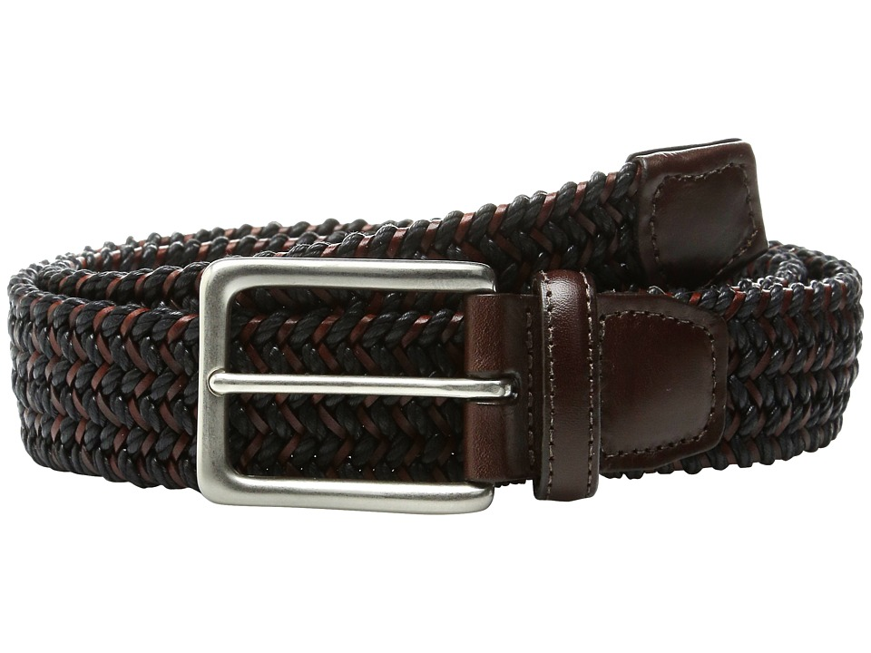 Torino Leather Co. - Italian Woven Cotton and Leather Elastic (Black) Men's Belts