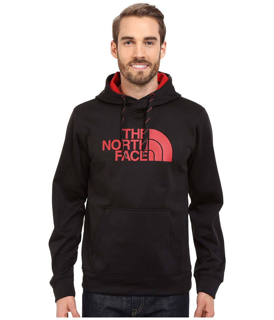 The North Face - Surgent Half Dome Hoodie (TNF Black/Pompeian Red) Men's Sweatshirt