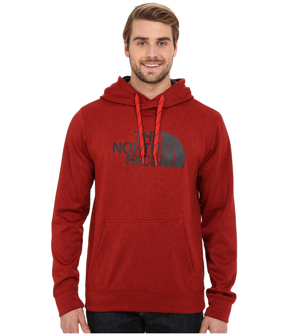 The North Face - Surgent Half Dome Hoodie (Pompeian Red Heather/TNF Black) Men's Sweatshirt