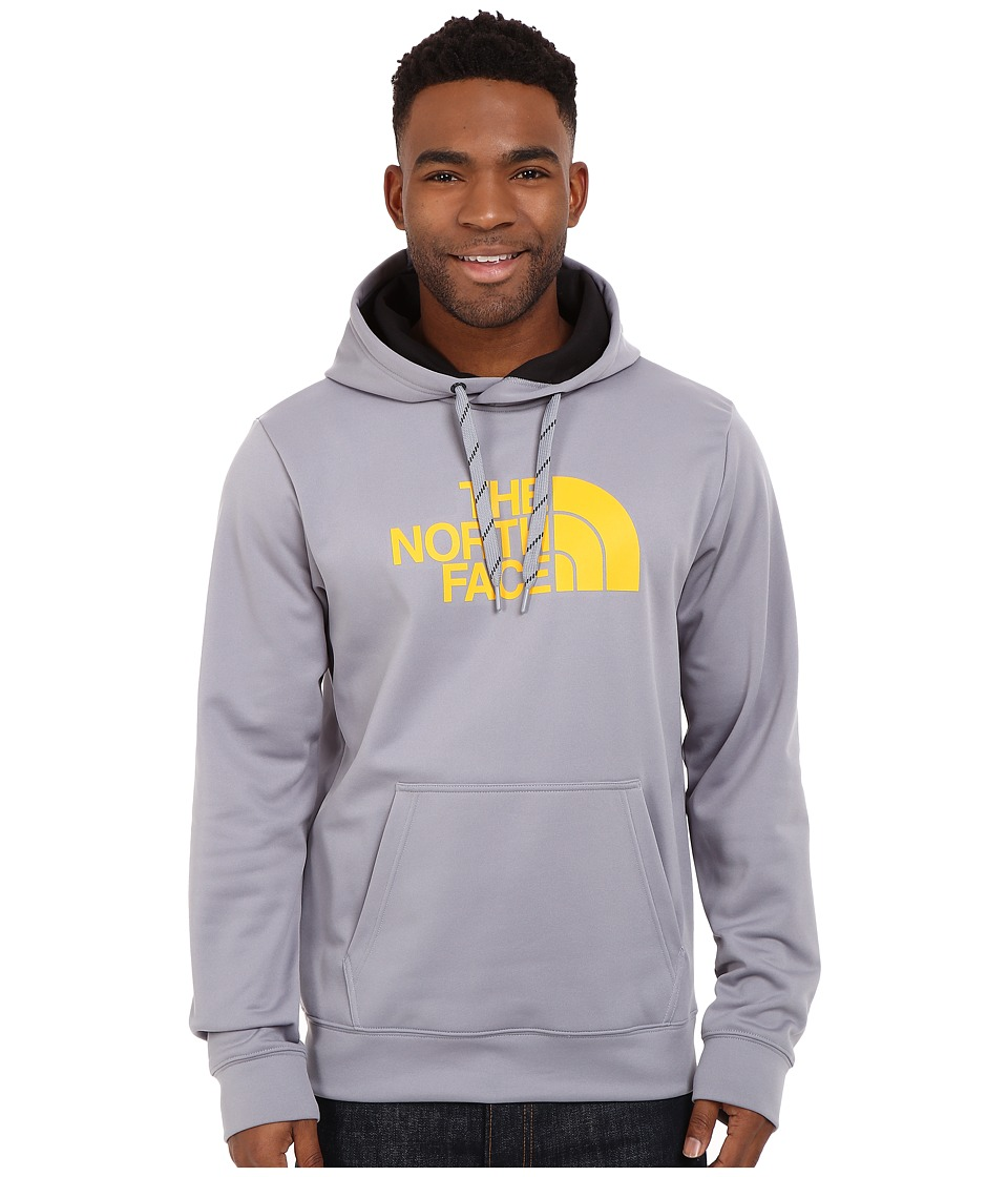 The North Face - Surgent Half Dome Hoodie (Mid Grey/Citrus Yellow) Men's Sweatshirt