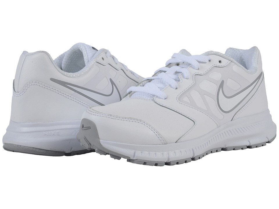 Nike Kids Downshifter 6 LTR (Little Kid/Big Kid) (White/Wolf Grey/White) Boys Shoes