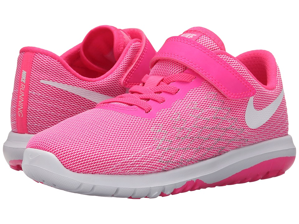 Nike Kids - Flex Fury 2 (Little Kid) (Pink Blast/Wolf Grey/White) Girls Shoes