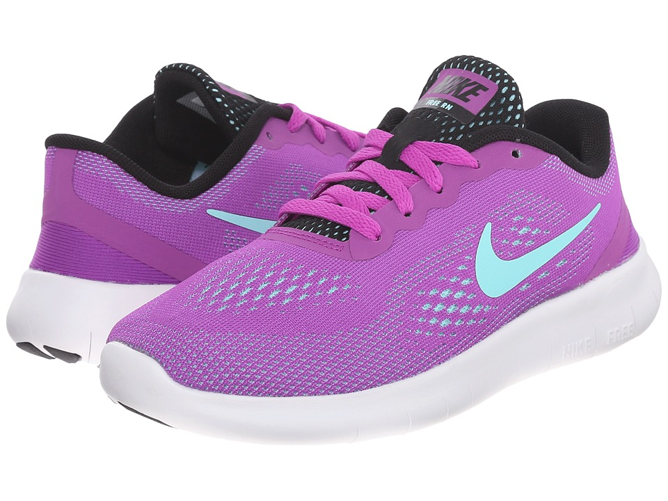 Nike Kids - Free RN (Little Kid) (Hyper Violet/Black/White/Hyper Turquoise) Girls Shoes