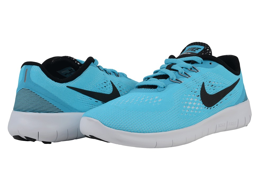 Nike Kids Free RN (Big Kid) (Gamma Blue/White/Black) Girls Shoes