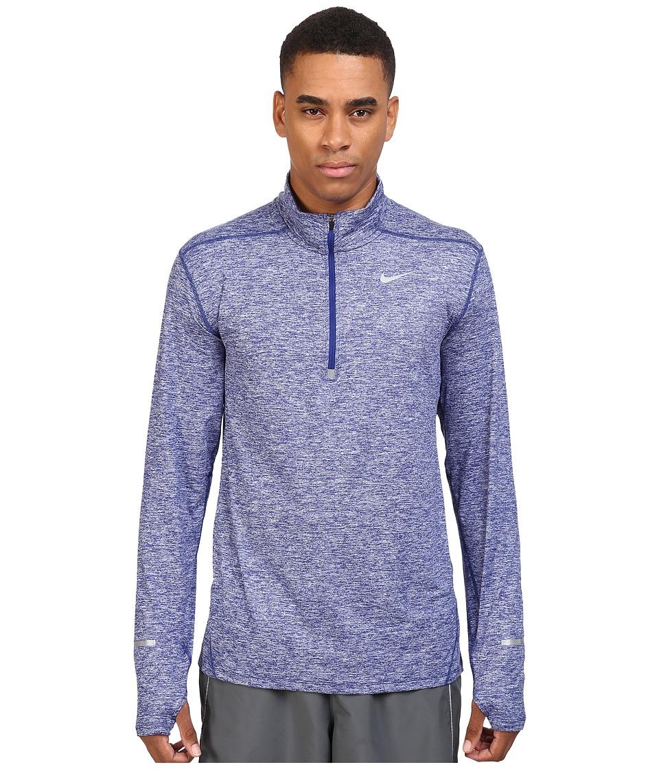 Nike - Dry Element Long Sleeve Running Top (Deep Royal Blue/Heather/Deep Royal Blue/Reflective Silver) Men's Long Sleeve Pullover