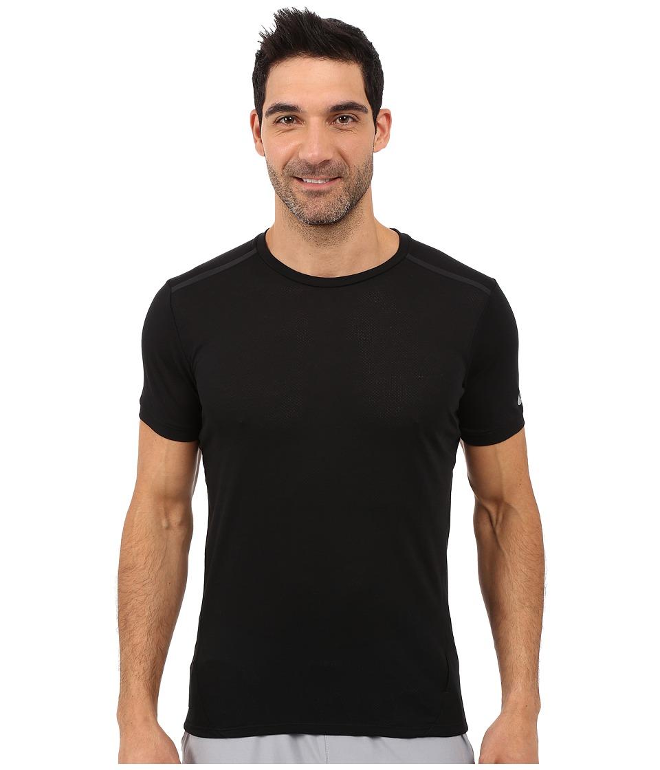 Nike - Dri-FIT Cool Tailwind Running Shirt (Black/Black/Reflective Silver) Men's Workout