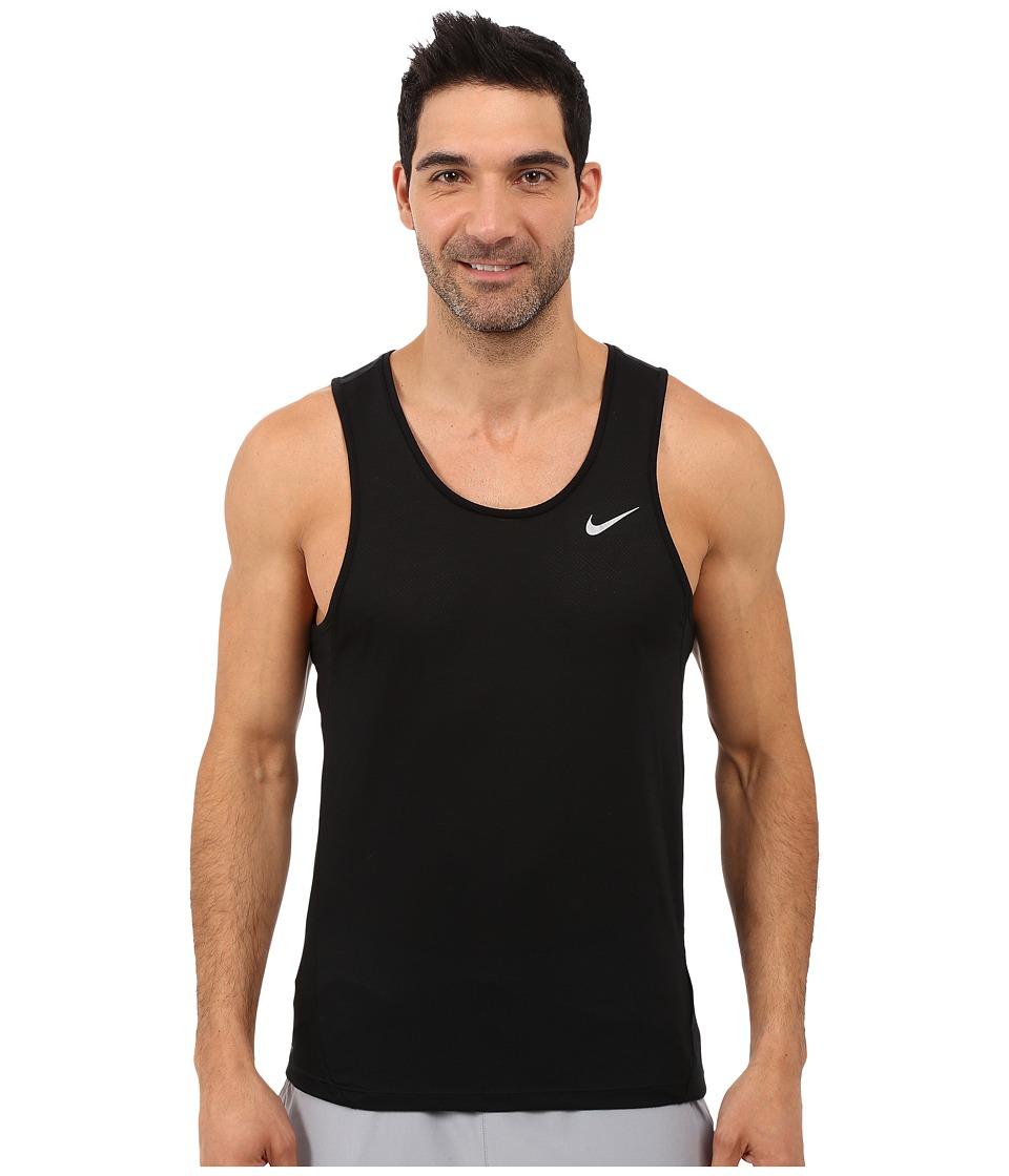 Nike - Dri-FIT Cool Tailwind Running Singlet (Black/Black/Reflective Silver) Men's Workout