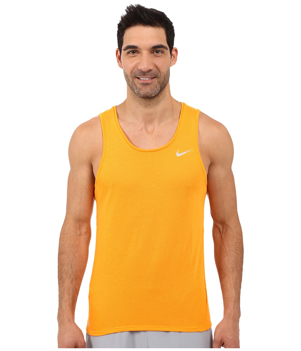 Nike Dri-FITtm Cool Tailwind Running Singlet (Vivid Orange/Vivid Orange/Reflective Silver) Men