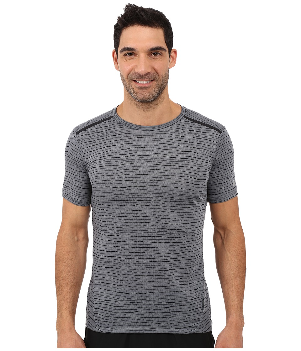 Nike - Dri-FIT Cool Tailwind Stripe Running Shirt (Cool Grey/Reflective Silver) Men's Workout