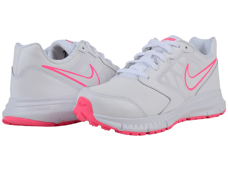 Nike Kids - Downshifter 6 LTR (Little Kid/Big Kid) (White/Hyper Pink/White) Girls Shoes