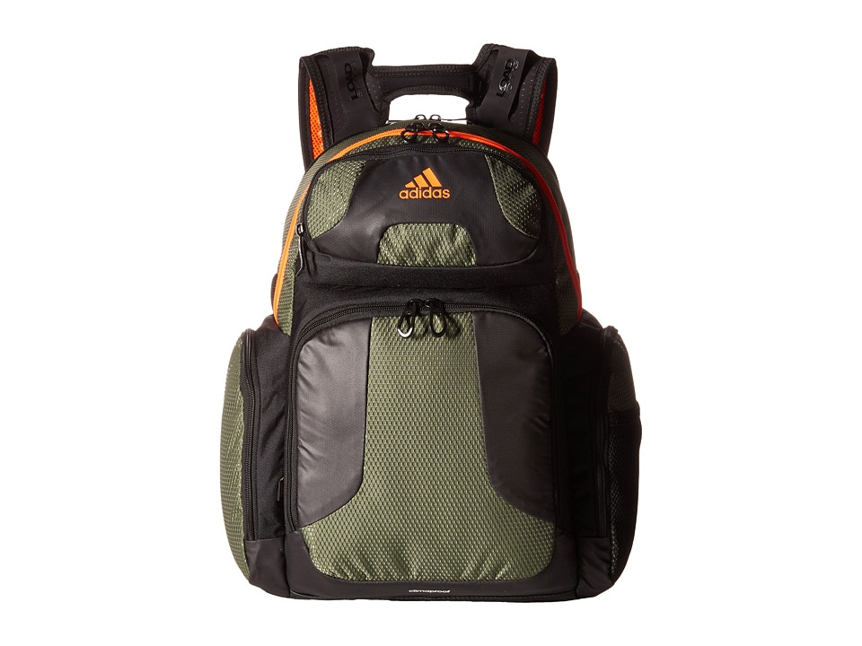 adidas - Climacool Strength Backpack (Base Green/Solar Orange) Backpack Bags