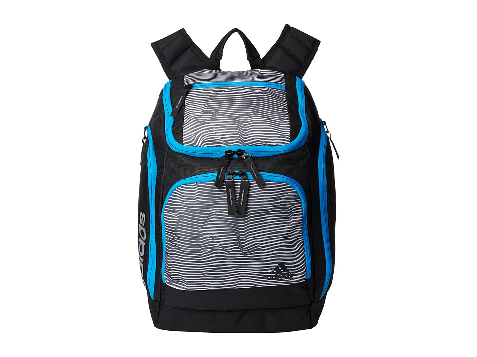 adidas - Energy II Backpack (Energy Stripe White/Solar Blue) Backpack Bags