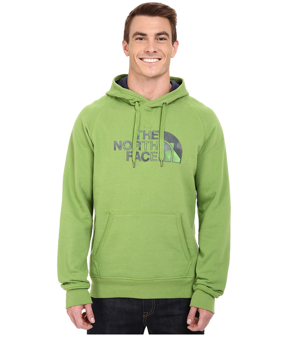 The North Face - Avalon Depth Camo Pullover Hoodie (Vibrant Green) Men's Sweatshirt