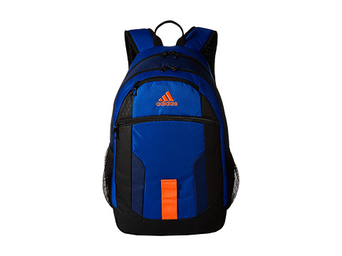adidas - Foundation Backpack (Power Blue/Dark Blue/Solar Orange) Backpack Bags