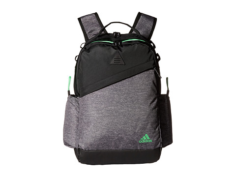 adidas - Game Backpack (Heather Grey/Flash Green) Backpack Bags