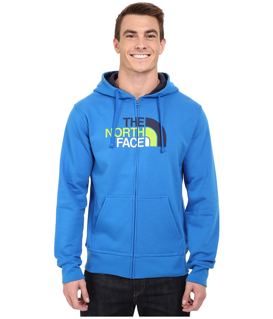 The North Face - Half Dome Full Zip Hoodie (Bomber Blue/Cosmic Blue Multi) Men's Sweatshirt