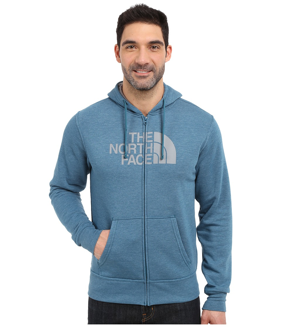 The North Face - Half Dome Full Zip Hoodie (Blue Coral Heather/Mid Grey) Men's Sweatshirt