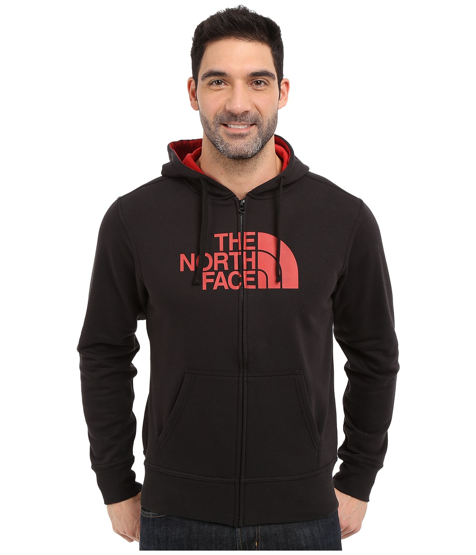 The North Face - Half Dome Full Zip Hoodie (TNF Black/Pompeian Red) Men's Sweatshirt