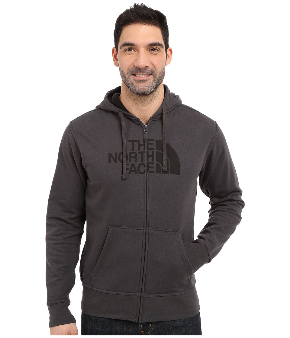 The North Face - Half Dome Full Zip Hoodie (Asphalt Grey/TNF Black) Men's Sweatshirt