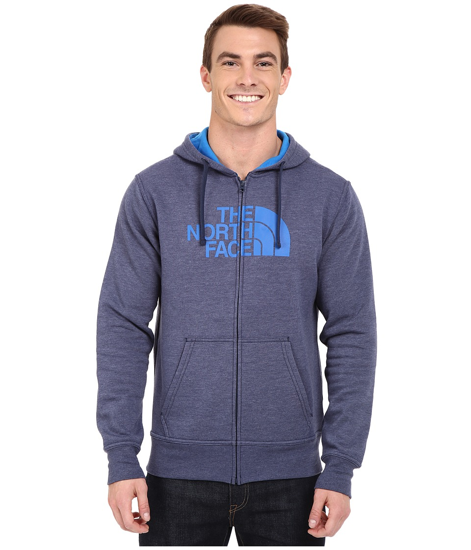 The North Face - Half Dome Full Zip Hoodie (Cosmic Blue Heather/Bomber Blue) Men's Sweatshirt