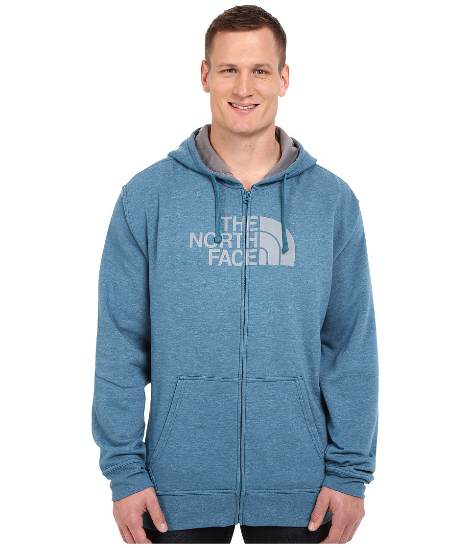 The North Face - Big and Tall Half Dome Full Zip Hoodie (Blue Coral Heather/Mid Grey) Men's Sweatshirt