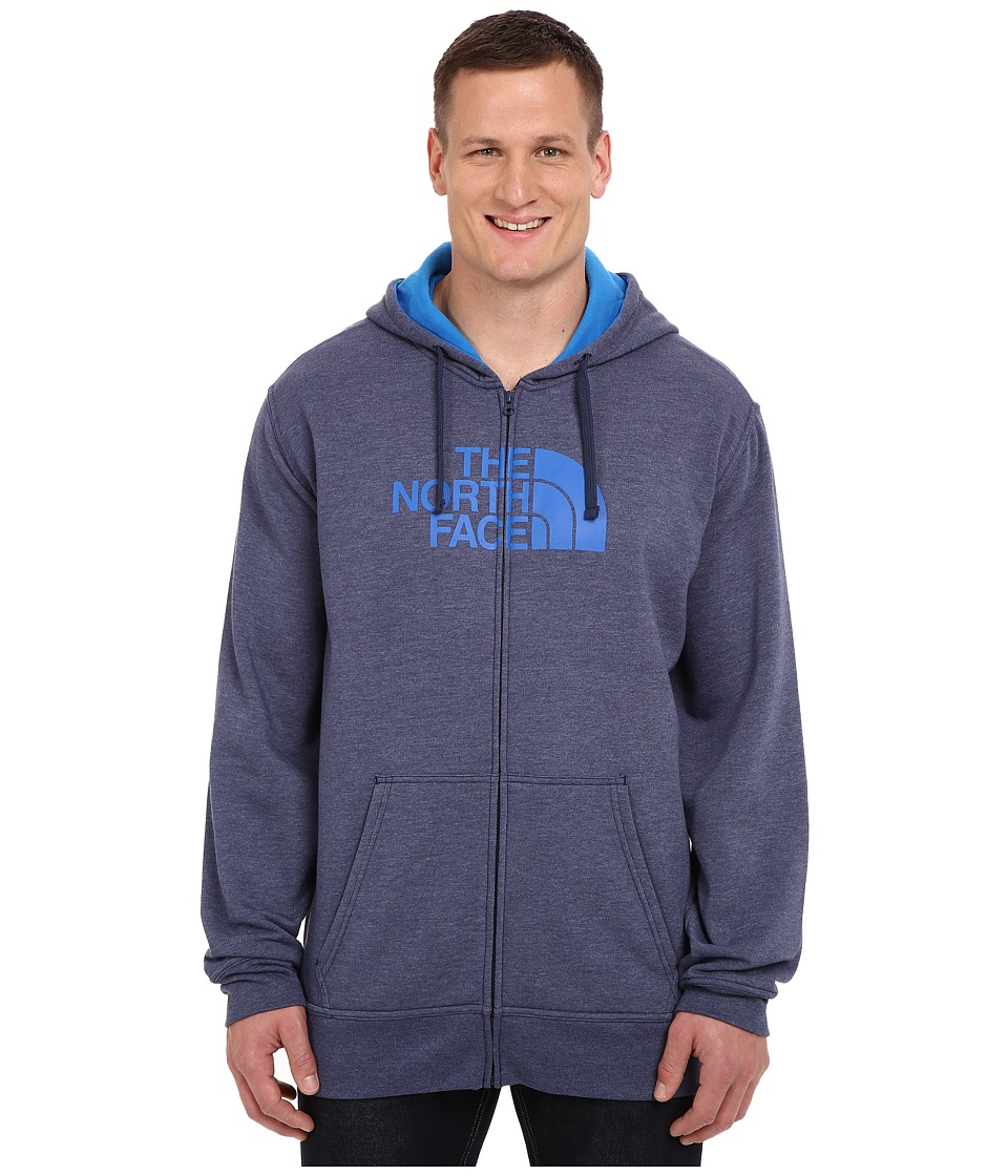 The North Face - Big and Tall Half Dome Full Zip Hoodie (Cosmic Blue Heather/Bomber Blue) Men's Sweatshirt
