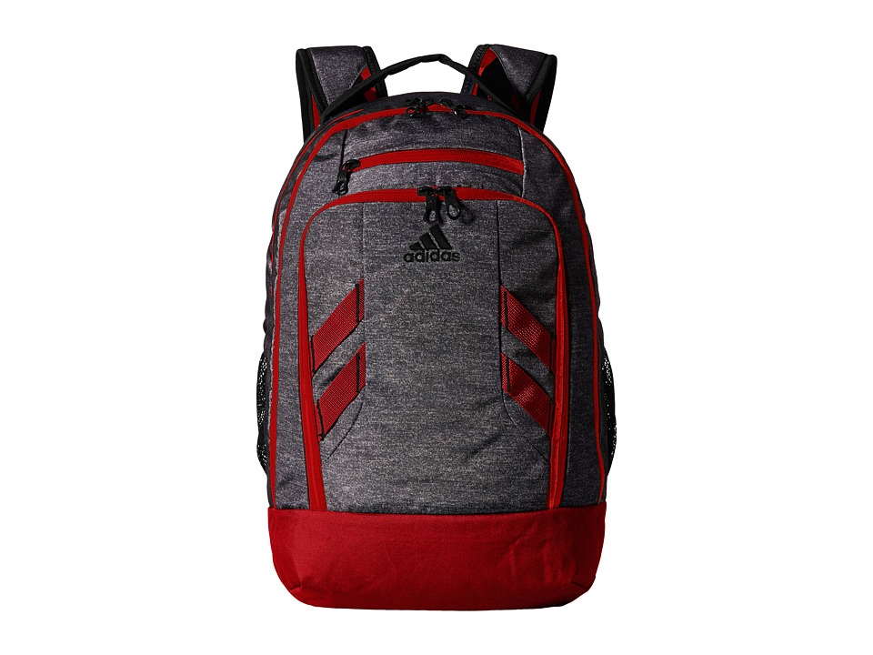 adidas - Rush Backpack (Heather Grey/Scarlet) Backpack Bags