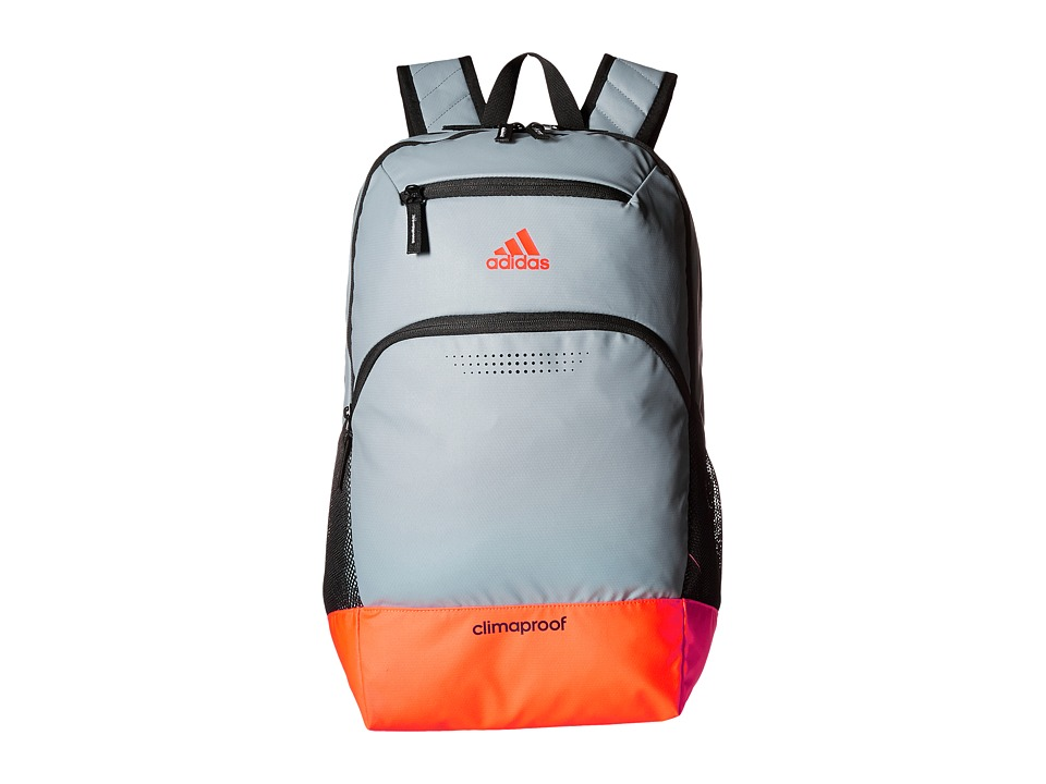 adidas - Rumble Backpack (Grey/Solar Red/Black/Neo White) Backpack Bags