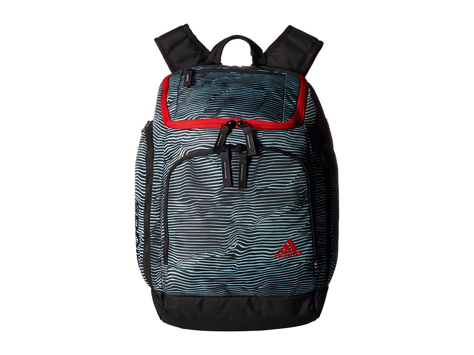 adidas - Energy II Backpack (Energy Stripe Frozen Blue/Scarlet) Backpack Bags
