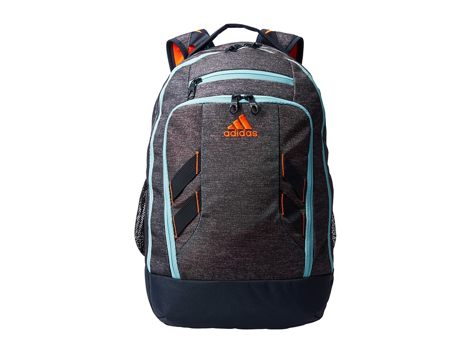 adidas - Rush Backpack (Heather Grey/Frozen Blue/Deepest Space/Solar Orange) Backpack Bags