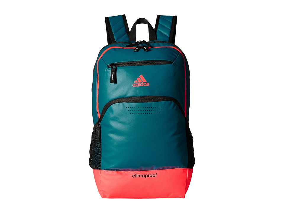 adidas - Rumble Backpack (Surf Petrol/Flash Red) Backpack Bags