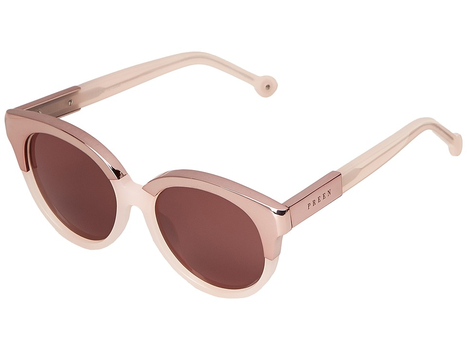 Preen by Thornton Bregazzi - Bristol (Milky Pink/Brown Mono) Fashion Sunglasses