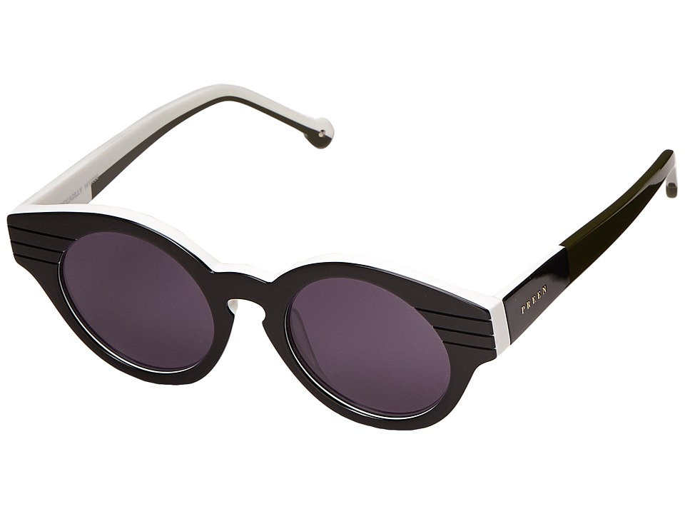 Preen by Thornton Bregazzi - Piccadilly (Black/White/Moss/Smoke Mono) Fashion Sunglasses