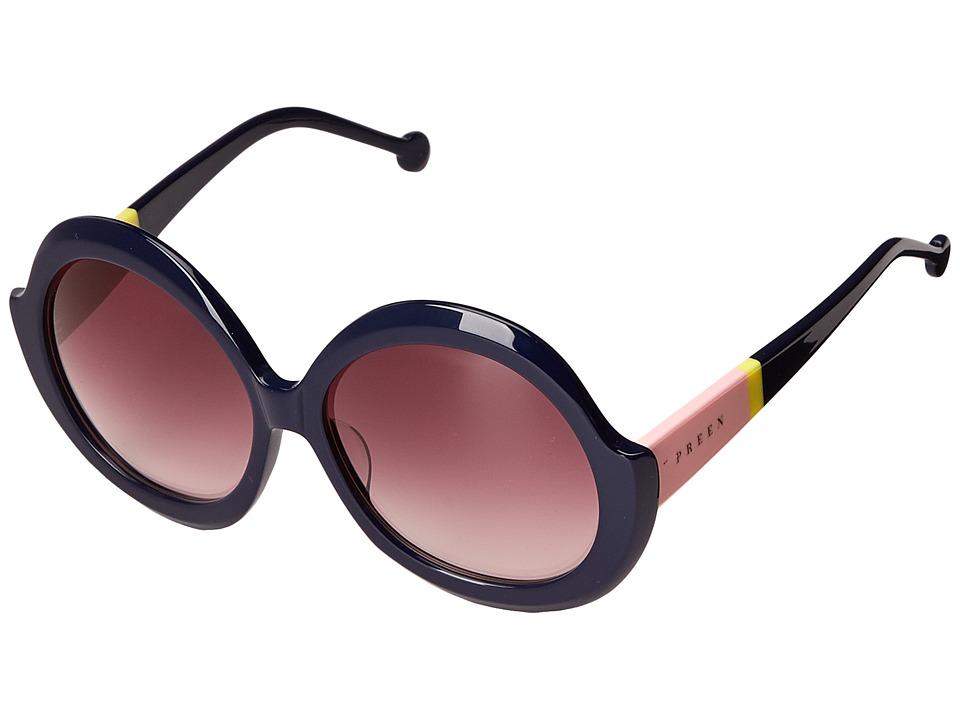 Preen by Thornton Bregazzi - Eltham (Navy/Rose Grad) Fashion Sunglasses
