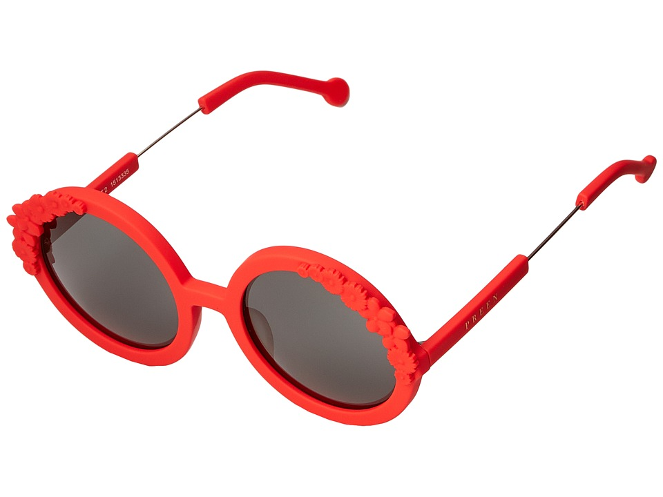 Preen by Thornton Bregazzi - Bouquet 2 (Red Rubber/Smoke Mono) Fashion Sunglasses