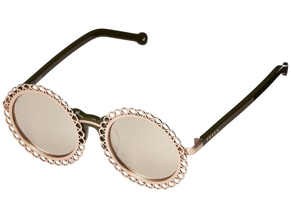 Preen by Thornton Bregazzi - Chantilly (Gold/Moss/Smoke Mono) Fashion Sunglasses