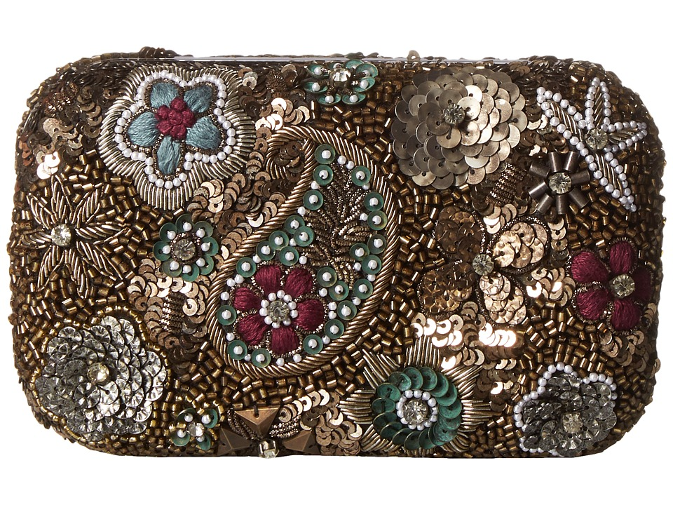 Alice + Olivia - Metallic Paisley Hard Shell Clutch (Multi) Clutch Handbags