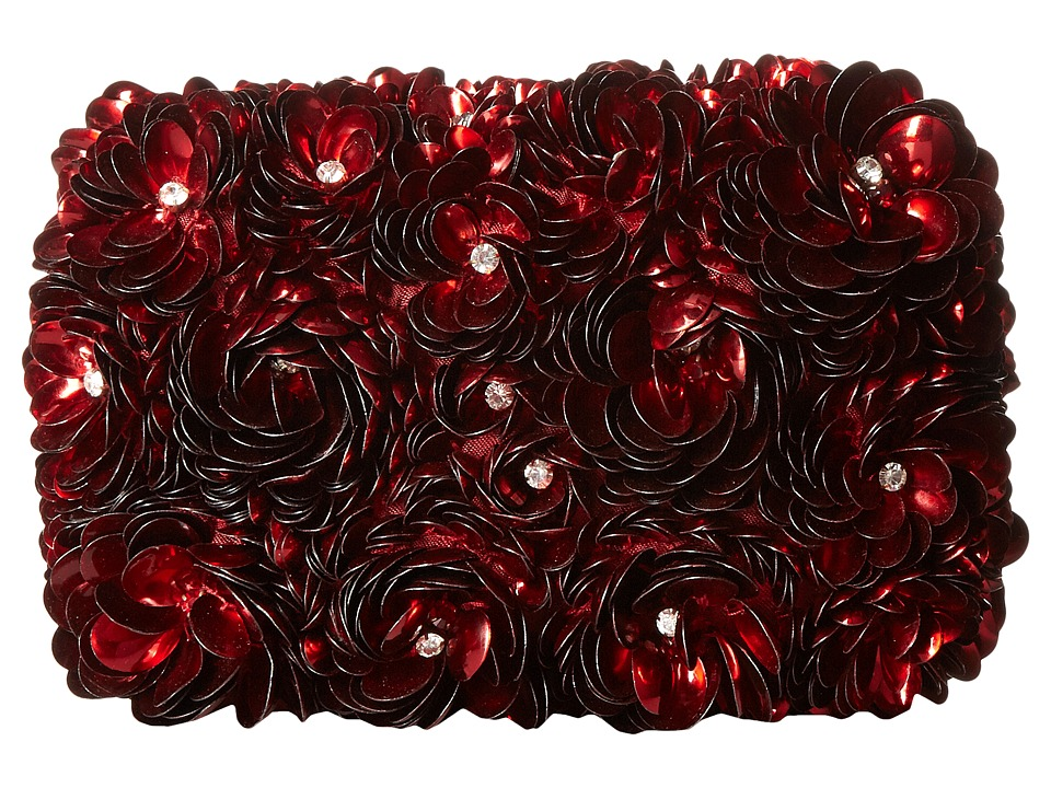 Alice + Olivia - Red Rosehard Shell Clutch (Red) Clutch Handbags