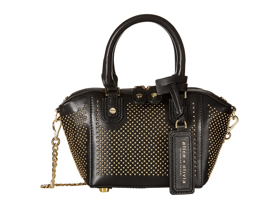 Alice + Olivia - Studded Nappa Mini Oliver (Black) Clutch Handbags