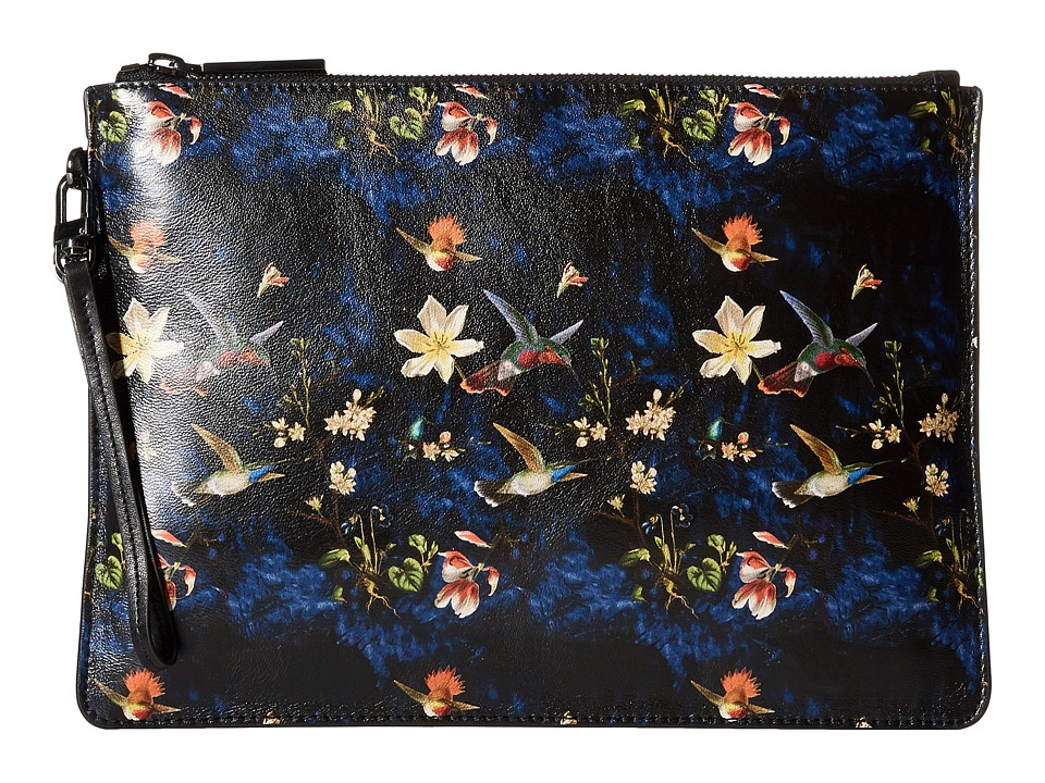 Alice + Olivia - Enchanted Garden Printed iPad Clutch (Midnight Multi) Clutch Handbags