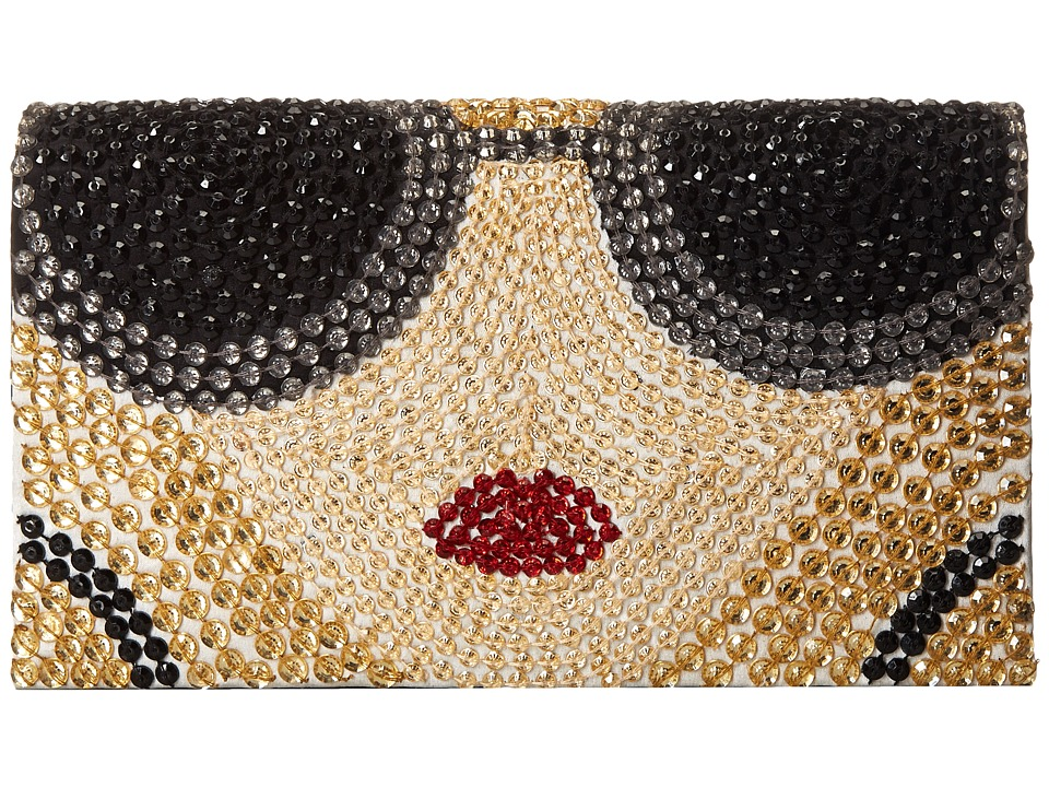 Alice + Olivia - Stacey Face Beaded Clutch (Multi) Clutch Handbags