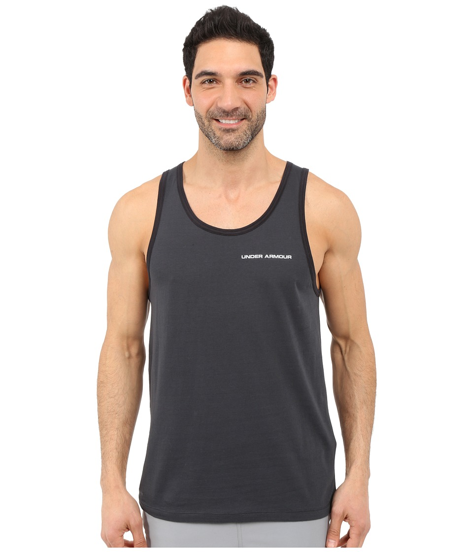 Under Armour - UA Charged Cotton(r) Microthread Tank Top (Anthracite/Overcast Gray) Men's Sleeveless