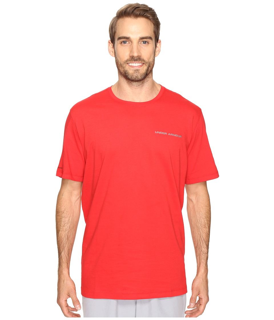 Under Armour - UA Charged Cotton(r) Microthread Short Sleeve Tee (Red/Graphite) Men's T Shirt