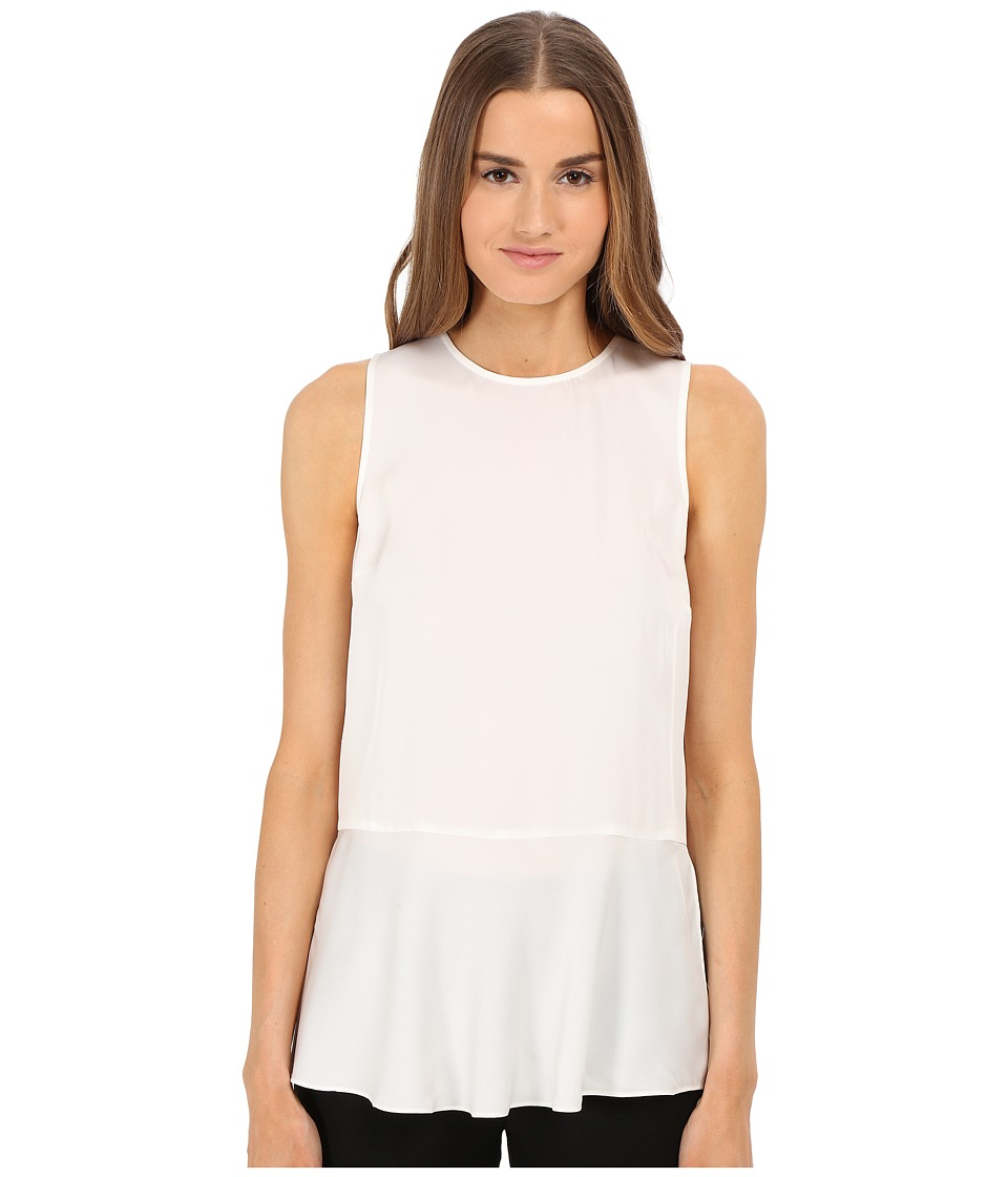 Theory - Nicella Top (Eggshell) Women's Blouse